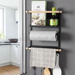 Refrigerator Spice Storage Magnetic Shelf Fridge Side Rack Hanging Kitchen $24.41