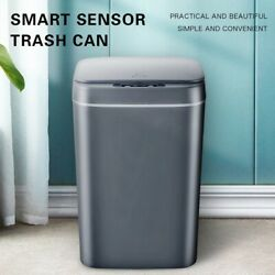 Rectangle Intelligent Automatic Kitchen Waste Smart Sensor Electric Bins 16L Gamp;W $55.99