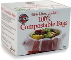 100% Compostable Bags 50 Count 870 Grey $13.22