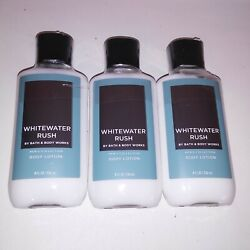 Set of 3 Bath and Body Works Mens Lotion Whitewater Rush Shea Butter Full Size 8 $37.99
