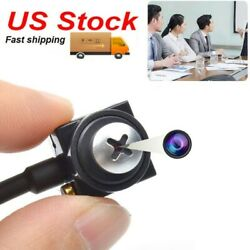 Mini Small HD Spy screw Lens CCTV Color micro Camera Security Video Cam With Mic $21.00