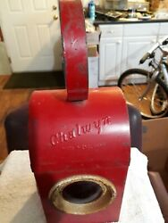 VINTAGE CHALWYN MADE IN ENGLAND RAILROAD or TRAFFIC OIL LANTERN 3 LENSES RED $39.00