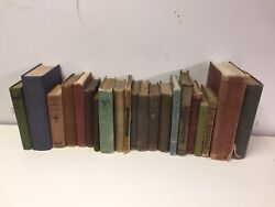 Lot of 10 Vintage Old Rare Antique Hardcover Books Mixed Color Random $34.99