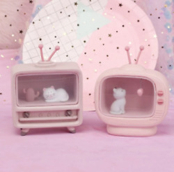 Cute And Creative Home Cat Heart Radio Night Light Gifts For Girls Decorations $28.23