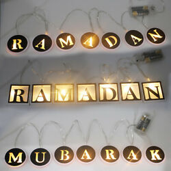 LED String Light Night Lamp Hanging Ramadan Islamic Eid Mubarak Party Decoration $8.97