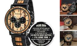 Mens Personalized Engraved Wooden Watches Stylish A For Dad From Daughter $68.71