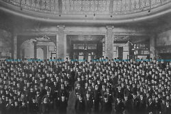 F000178 Group portrait of men in the London Commercial Sale Rooms. Mincing Lane.