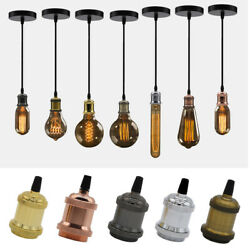 Rose Lamp Fitting Light Industrial E27 Holder Ceiling Vintage Pendant Screw Bulb $1.88