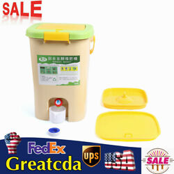 21L Recycle Composter Aerated Garden Compost Bins Bucket Kitchen Food Waste $53.06