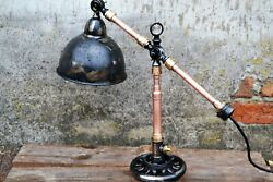 Table lamps industrial lighting designer lamp rustic lamp $177.00