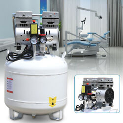 Portable Dental Air Compressor Oil Free Silent Air Pump Noiseless 8PSI 110V 40L $279.08