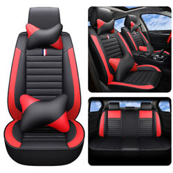 Auto Parts amp; Accessories Car Seat Cover Luxury PU Leather Protector Cushions Red $96.27
