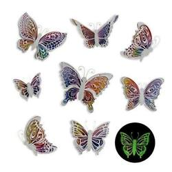 Butterfly Wall Decals Stickers 3D Decor Glow in the Glow Butterfly 8 Pcs $21.95