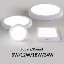 6W 12W 18W 24W LED Ceiling Panel Down Light Surface Mount Lamp Kitchen Lighting $11.39