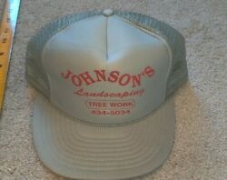 Johnson#x27;s Landscaping amp; Tree Work Trucker Mesh Grey Hat Cap Rhode Island 401 $9.99