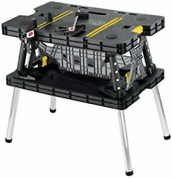 Keter 197283 Folding Table Work Bench for Miter Saw StandYellow FREE SHIPPING $96.00