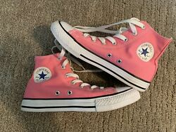 New Converse Chuck Taylor All Star Girls High Top Canvas Sneakers Pink Size 2.5 $31.49