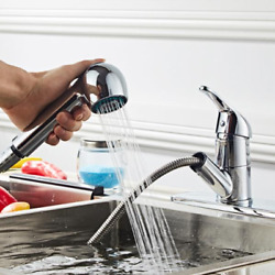 All Copper Kitchen Pull Chromeplate Faucet $74.55