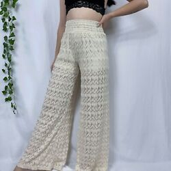 Poof Cream Lace Pants Size Small $14.00