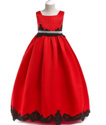 new fashion personality sleeveless girls party dresses kids party dresses $38.00