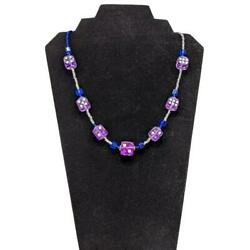 Aye Que Chula In dice sive Necklace in Purple Handcrafted OOAK Gaming Vegas Damp;D $20.00