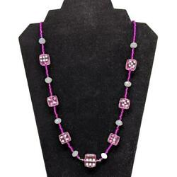 Aye Que Chula Rosé Dice Necklace in Pink amp; White OOAK Handmade Gaming Vegas Damp;D $20.00