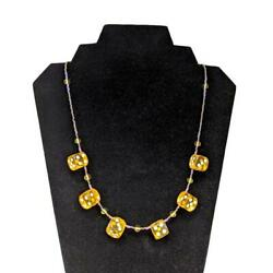Aye Que Chula Sunshine Dice Necklace OOAK Handcrafted Gaming Vegas Yellow amp; Gold $30.00