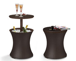 Keter Pacific 7.5 Gallon Cool Bar Resin Outdoor Patio Beverage Cooler Table... $59.00