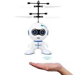 Electric Rc Fly Robot Infrared Induction Aircraft Remote Helicopter Hand Control $23.99