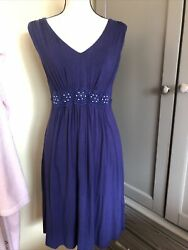 Sangria Navy Blue Dress Size M Stretch
