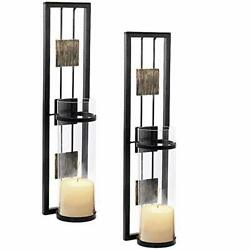 Shelving Solution Wall Sconce Candle Holder Metal Wall Decorations for Living $46.59