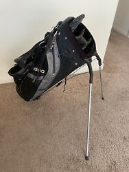 OGIO quot;THE BUGquot; STAND BAG 5 WAY DIVIDE BLACK W Rain cover Very Nice $64.99