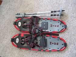 YUKON CHARLIE 8x25 6000 Series quot;HIKEquot; 825 up to 200lbs Snowshoes amp; Poles $89.99