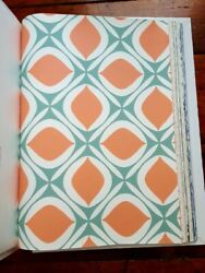 York Ashford House Mid Modern Retro Geometric Wallpaper Sample Book $45.99