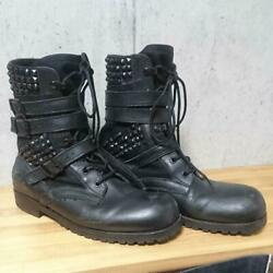 Limit Number Nine Heart Tear Combat Boots With Tack $499.74