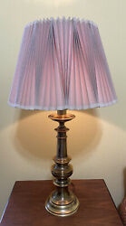 Vintage Solid Brass Stiffel Lamp With Original Shade $125.00