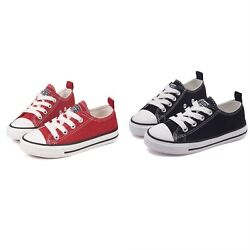NEW Kids Boys Girls Canvas Shoes Sneakers for Toddler Low Top Lace Up Sneaker US $15.97