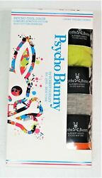 Psycho Bunny Mens Pack of 3 Boxer Briefs Green Orange Gray Stretch NEW $42 NWT $35.99