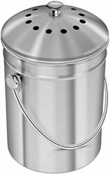 Stainless Steel Compost Bin 1.3 Gallon Indoor Compost Bucket for Kitchen Counter $28.57