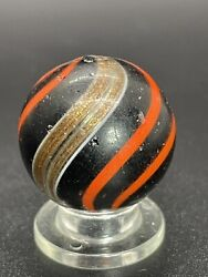 """Handmade Red Banded Lutz Marble Rare Back Lit Opaque Banded Lutz Marble 0.866"""" $349.00"""