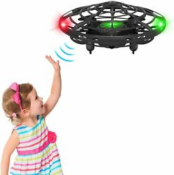 Flying UFO Mini Toy Drone for KidsHand Operated LED Lights Object Sensors $8.22