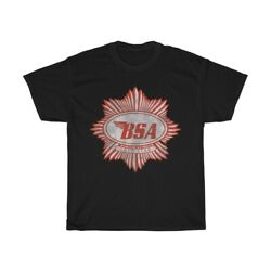 Vintage Style BSA Gold Star Motorcycles Biker UNISEX T Shirt Black $18.99
