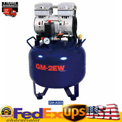 Portable Dental Air Compressor Oil Free Tank 32L Handpiece Noiseless Silent Equi $349.00