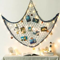 Nautical Fishing Net Seaside Wall Beach Party Sea Shells Garden Home Decor $11.09