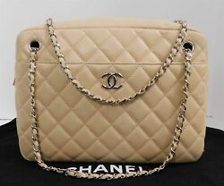 Chanel Lambskin Quilted Large Camera Case Beige Clair Italy $2500.00