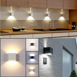 Modern LED Wall Lights Cube Up Down Sconce Bedside Lighting Lamps Indoor Outdoor $32.29