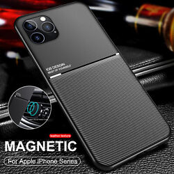 Matte Shockproof Case For iPhone 12 Pro Max Mini 11 X XS 7 8 Plus Cover Magnet $8.36