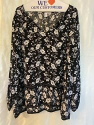 Old Navy Floral Long Sleeve Top Sz XXl $5.90