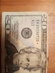 Fancy serial number Star Note low numbers super rare and Error unaligned $100.00