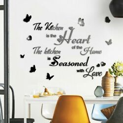 Acrylic Mirror Effect Quote Letters Word Decals Wall Sticker Decor New C $15.92
